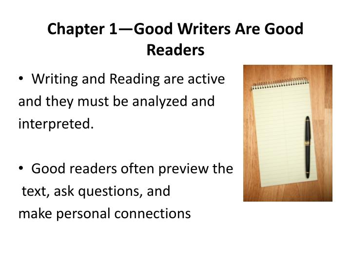 chapter 1 good writers are good readers n.