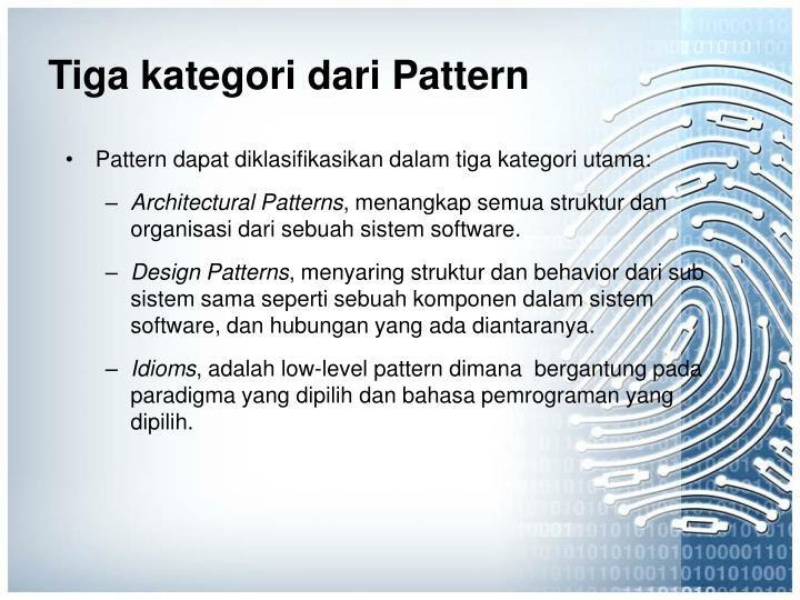 Tiga kategori dari Pattern
