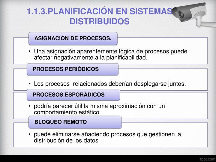 1.1.3.PLANIFICACIÓN EN SISTEMAS DISTRIBUIDOS