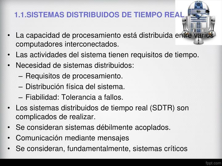 1 1 sistemas distribuidos de tiempo real