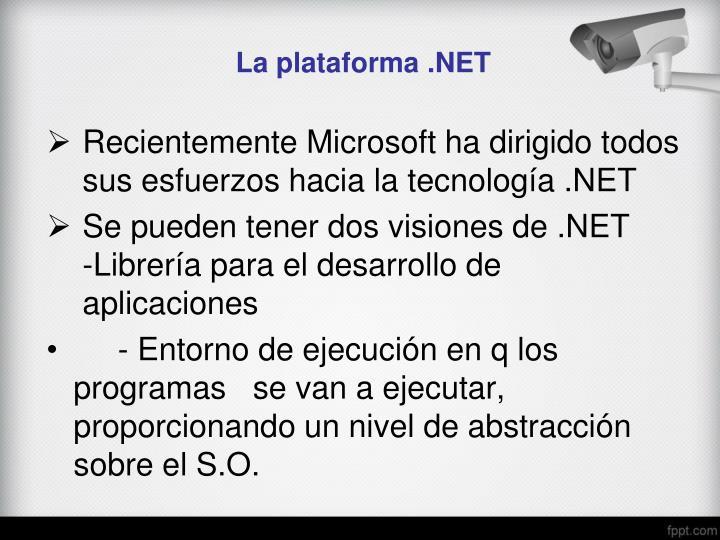 La plataforma .NET