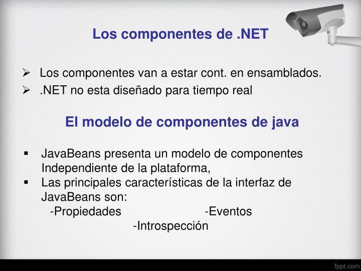 Los componentes de .NET