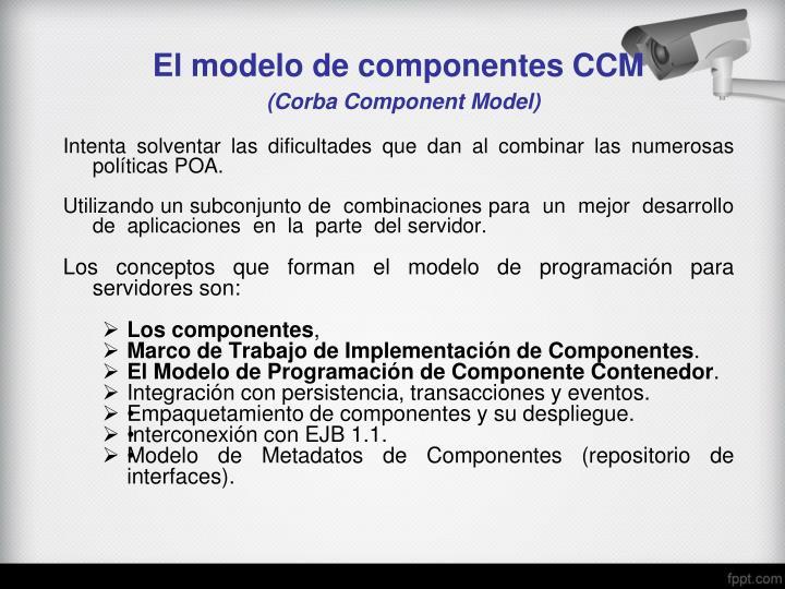 El modelo de componentes CCM