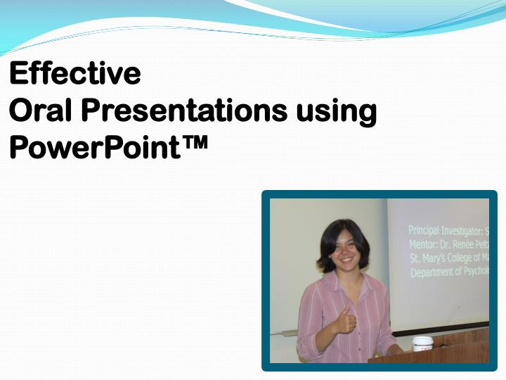 effective oral presentations using powerpoint n.