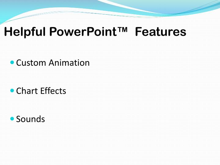Helpful PowerPoint