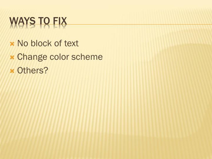 No block of text