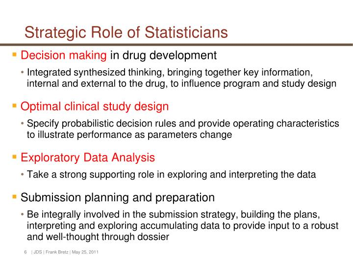 Strategic Role of Statisticians