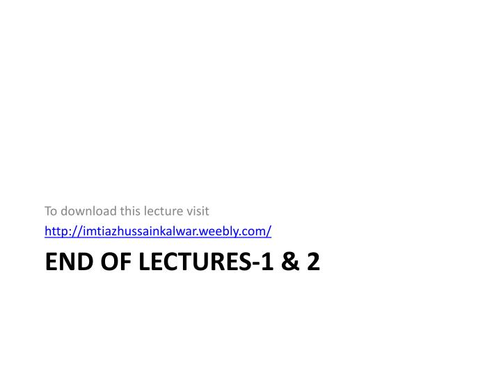 To download this lecture visit