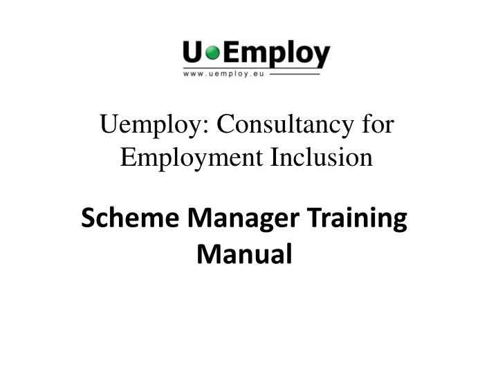 uemploy consultancy for employment inclusion n.