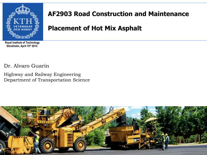 AF2903 Road Construction and