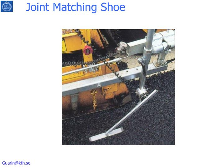 Joint Matching Shoe