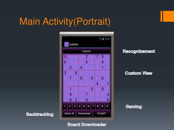 Main activity portrait