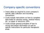 company specific conventions