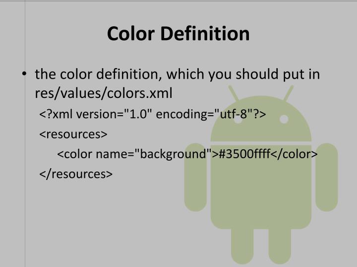 Color Definition