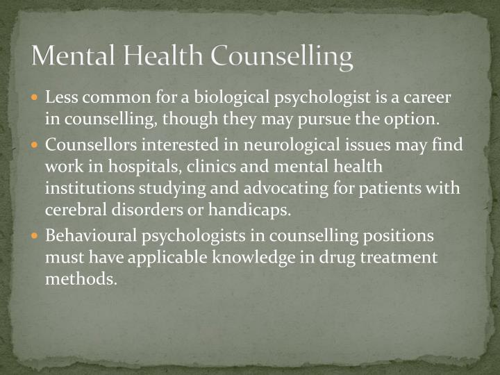Mental Health Counselling