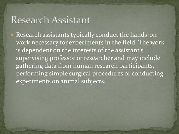 Research Assistant