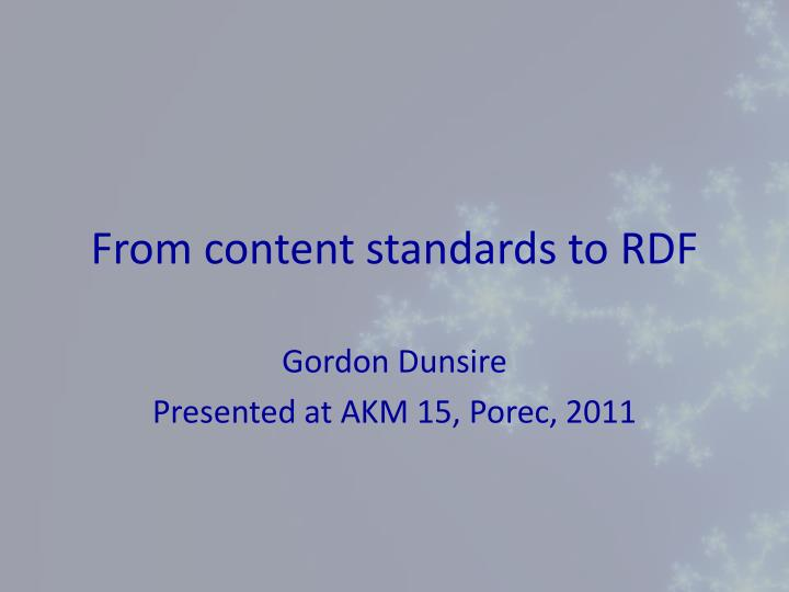 from content standards to rdf