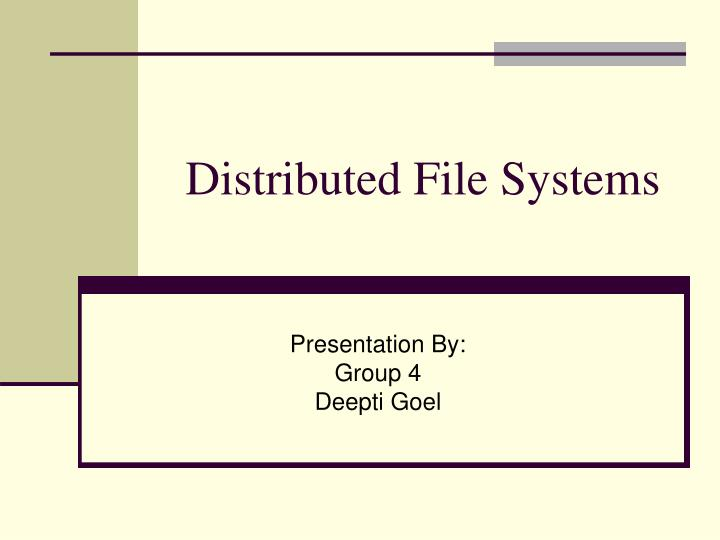 Ppt scale and performance in a distributed file system.