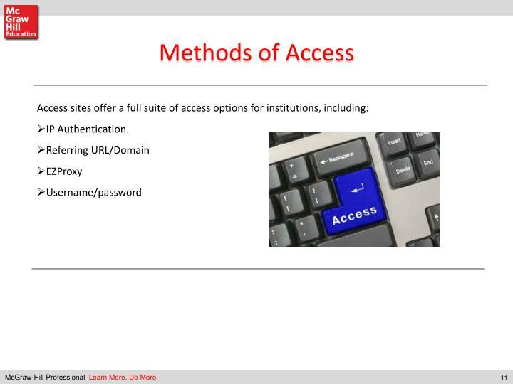 Methods of Access