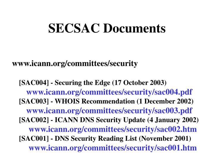 SECSAC Documents