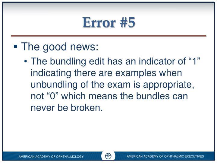 Error #5