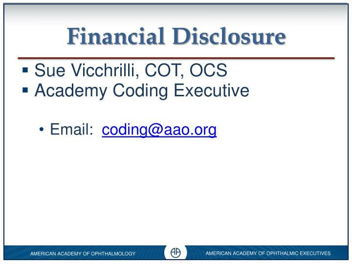 Financial disclosure1
