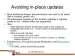 avoiding in place updates