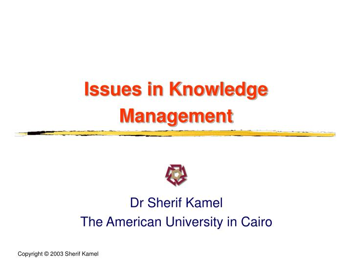 issues in knowledge management n.
