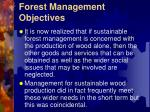 forest management objectives1