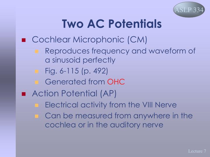 Two AC Potentials