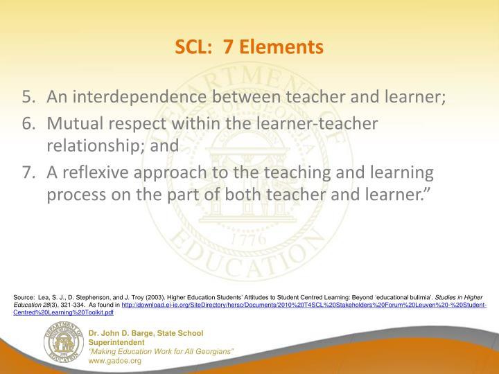 SCL:  7 Elements