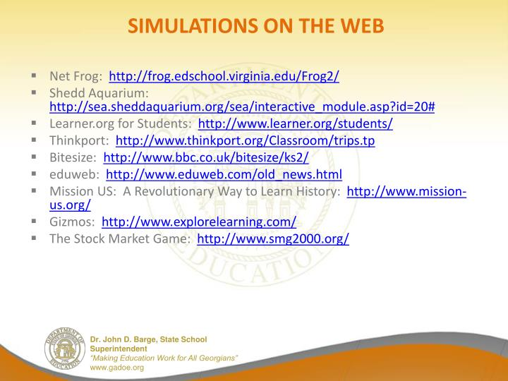SIMULATIONS ON THE WEB