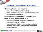 hazardous waste permit application