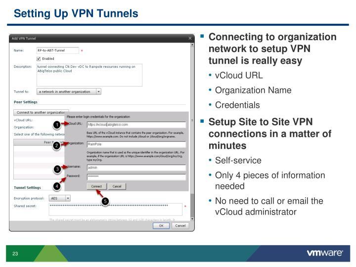 Setting Up VPN Tunnels