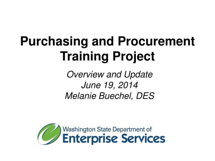 purchasing and procurement training project n.