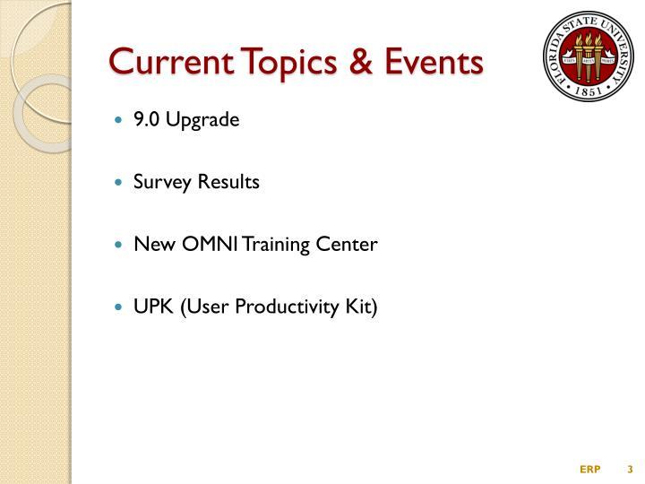 Current topics events