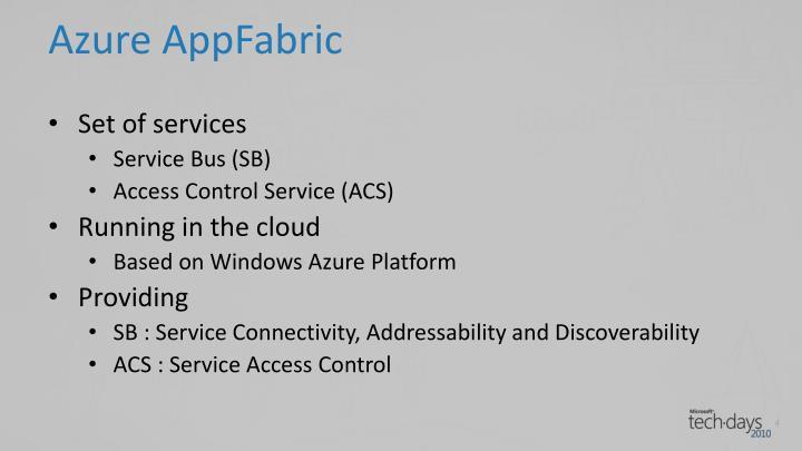 Azure appfabric