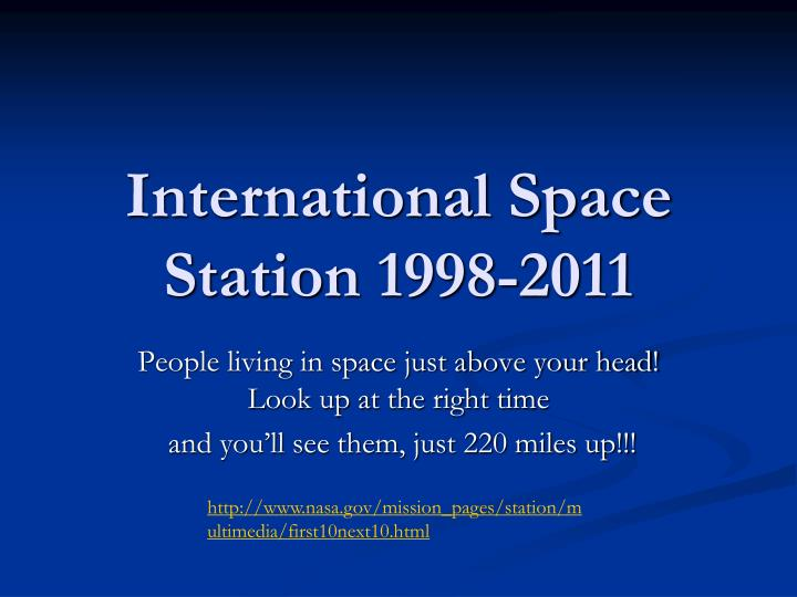 international space station 1998 2011 n.