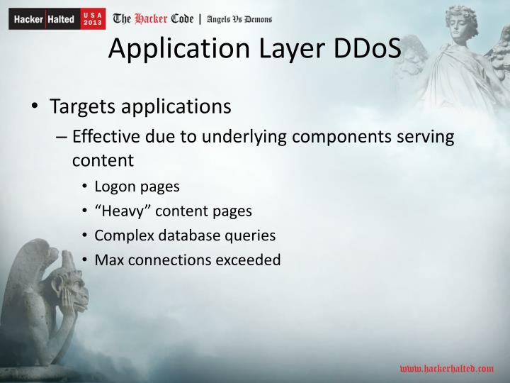 Application Layer DDoS