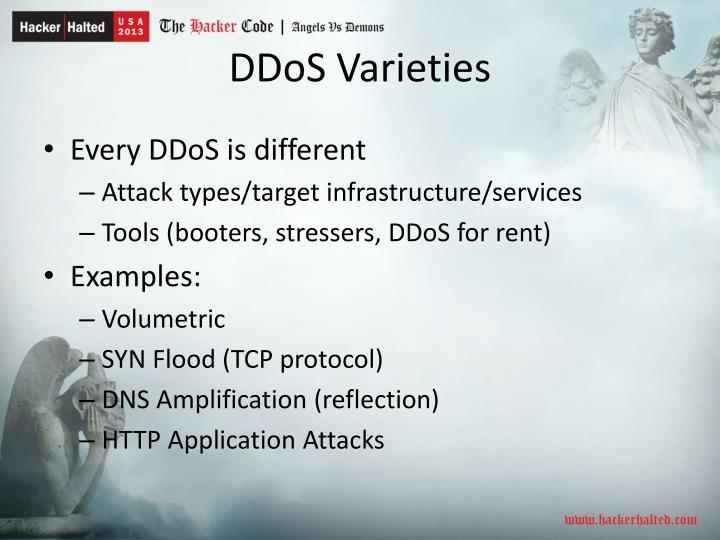 DDoS Varieties