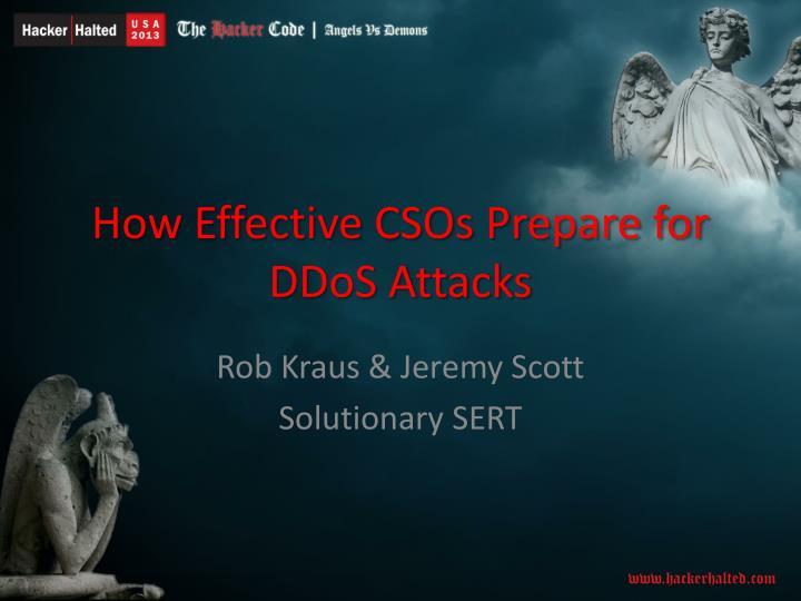How effective csos prepare for ddos attacks