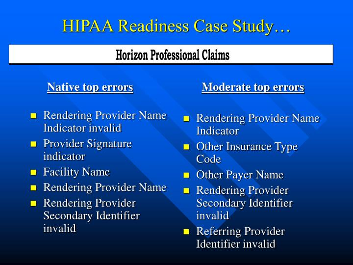 case study 1 hipaa cia This assignment consists of two (2) sections: a written paper and a powerpoint presentation you must submit both sections as separate files for the completion of.