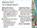melting pot or a salad bowl