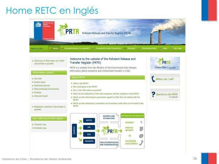 Home RETC en Inglés