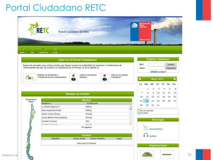 Portal Ciudadano RETC