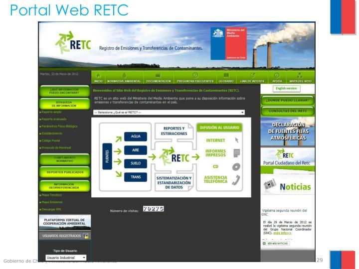 Portal Web RETC