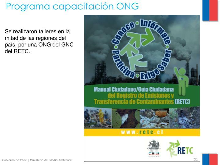 Programa capacitación ONG