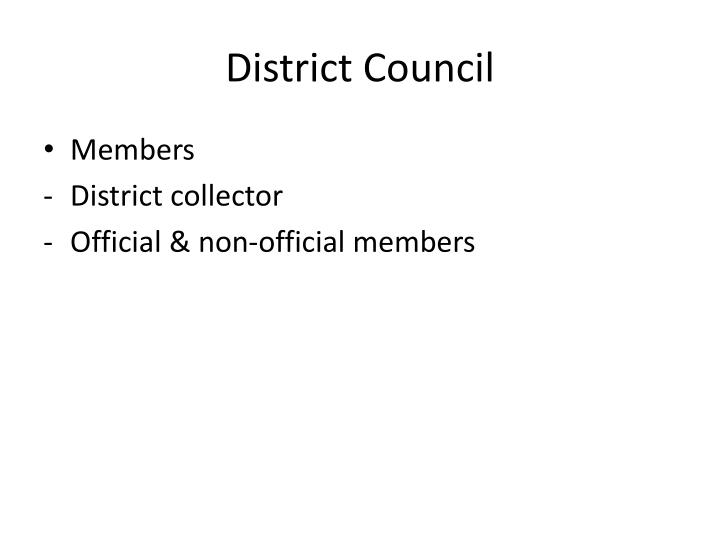 District Council