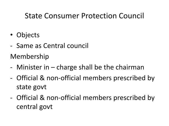 State Consumer Protection Council