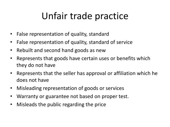 Unfair trade practice